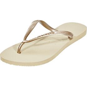 havaianas Slim - Sandales Femme - beige